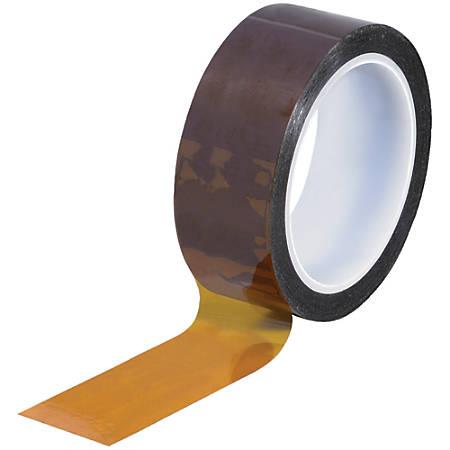 """Kapton® Sealing Tape, 3"""" Core, 1.25"""" x 108', 1 mil, Amber"""