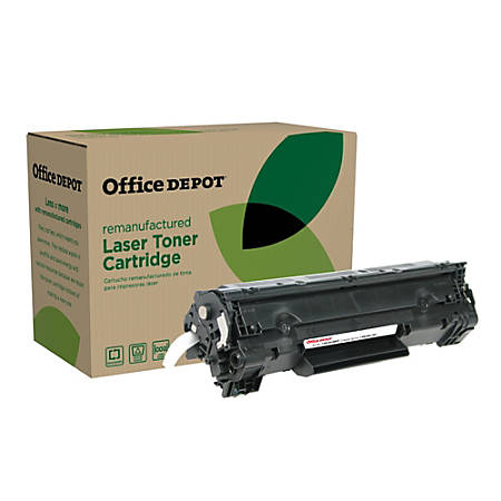 Office Depot® Brand OD36EHY (HP CB436A) Remanufactured Extended High-Yield Black Toner Cartridge
