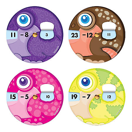 Carson-Dellosa EZ-Spin™ Wheels, Subtraction Facts, Pack Of 18 Wheels