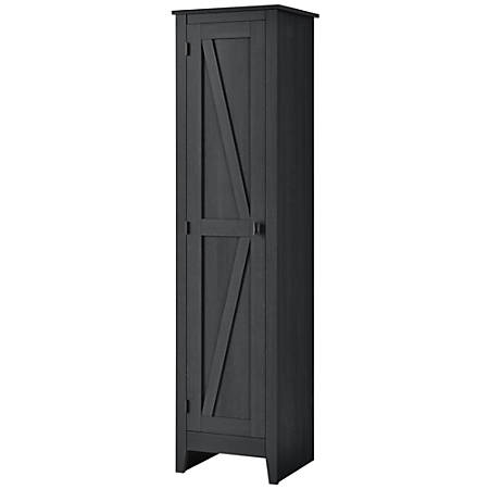 "Ameriwood™ Home Farmington 18"" Wide Storage Cabinet, 4 Shelves, Black Oak"