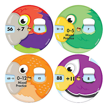 Carson-Dellosa EZ-Spin™ Wheels, Division Facts, Pack Of 18 Wheels