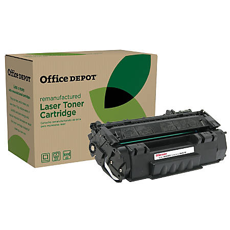 Office Depot® Brand OD49EHY Remanufactured Extended High-Yield Toner Cartridge Replacement For HP 49X Black