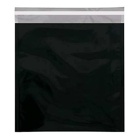 """Office Depot® Brand Metallic Glamour Mailers, 13"""" x 10-3/4"""", Black, Case Of 250 Mailers"""