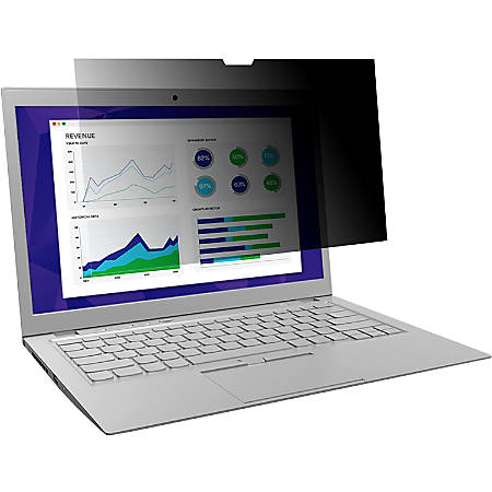 """3M™ Privacy Filter For Laptops, 12.5"""" Edge-to-Edge Widescreen (16:9), MMMPF125W9E"""