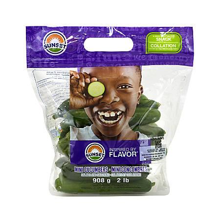 Sunset Mini English Cucumbers, 2-Lb Bag