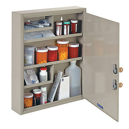MMF Industries Dual Locking Drug/Narcotics Cabinet