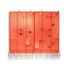 Azar Displays 70 Piece Pegboard Organizer