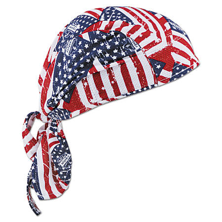 Chill-Its 6615 High-Performance Dew Rags, 6 in X 20 in, Stars/Stripes