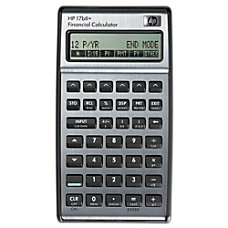 HP 17bII Financial Algebraic Calculator
