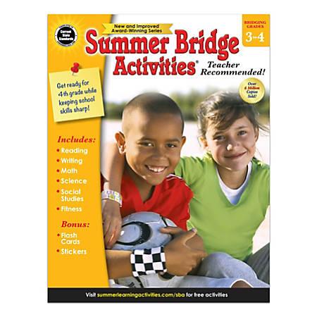 Carson-Dellosa Summer Bridge Activities Workbook, Grades 3-4