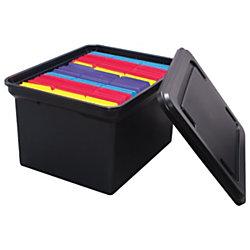 "Office Depot® Brand File Tote, 10 13/16""H x 14 1/8""W x 18""D, Black"