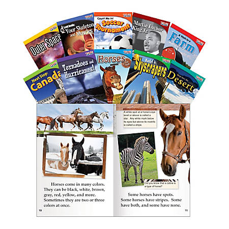 Teacher Created Materials TIME FOR KIDS® Nonfiction Book Set, Set 2, Set Of 10 Books, Grade 2