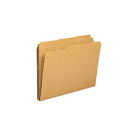 "Office Depot® File Folders, 1/3 Cut, Legal Size (8-1/2"" x 14""), 3/4"" Expansion, Kraft, Box Of 100"