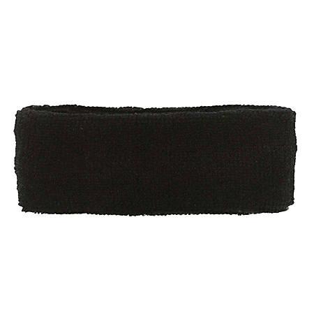 Ergodyne Chill-Its 6550 Head Sweatbands, Black, Pack Of 24 Headbands