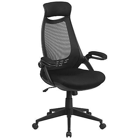 Flash Furniture Mesh High-Back Swivel Chair, Black