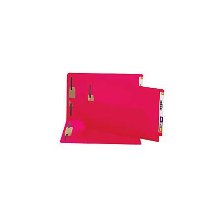 Smead® Shelf-Master® Color Fastener Folders, Legal Size, Red, Box Of 50