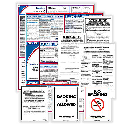 ComplyRight Federal, State And Public Sector Poster Set, Bilingual/English, Virginia