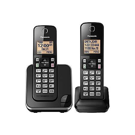 Panasonic® DECT 6.0 Expandable Cordless Phone, 2 Handsets, KX-TGC352B