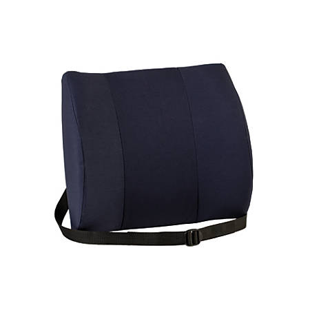 "Sitback Rest™ Lumbar Support Cushion, 13""H x 14""W x 5""D, Blue"