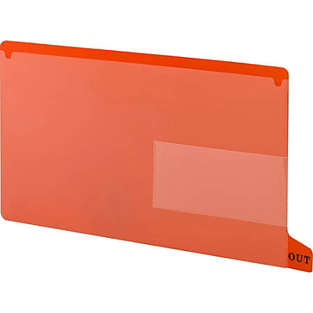 """Smead End Tab Poly Out Guides, Two-Pocket Style - 8.5"""" x 14"""" - 25 / Box - Red Divider"""