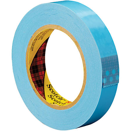 """Scotch® 8896 Strapping Tape, 3"""" Core, 1"""" x 60 Yd., Blue, Case Of 12"""