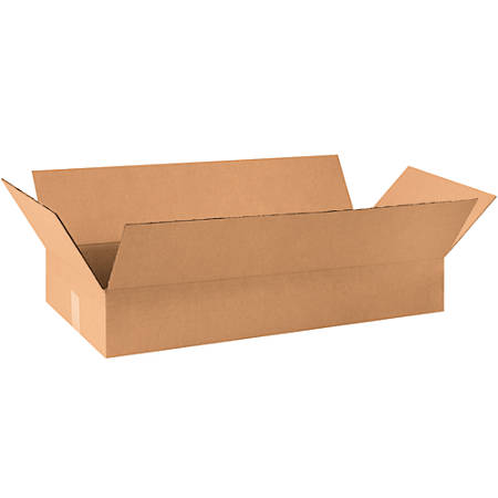 """Office Depot® Brand Corrugated Boxes, 4""""H x 12""""W x 30""""D, 15% Recycled, Kraft, Bundle Of 25"""