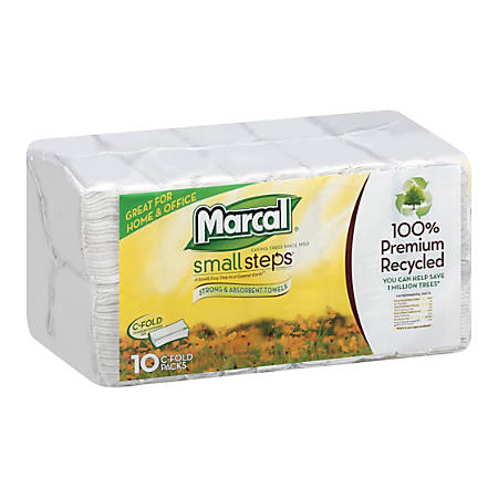 Marcal C-Fold Hand Towels, Pack Of 1,500