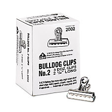 Bulldog Clips Medium Nickel Plated 36Box