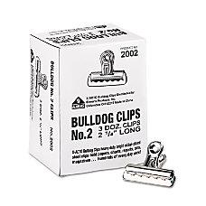 Bulldog Clips Medium Nickel Plated 36Box