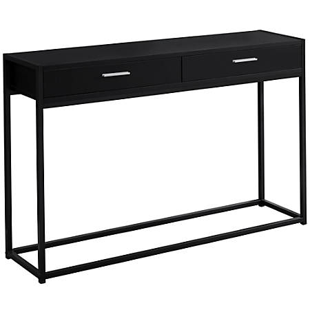 Enjoyable Monarch Specialties Accent Table With 2 Drawers Rectangular Black Item 7859775 Machost Co Dining Chair Design Ideas Machostcouk