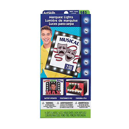 artskills marquee poster lights strand of 14 by office depot officemax