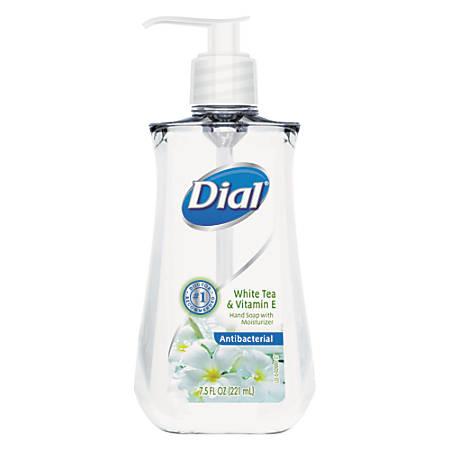 Dial Antimicrobial Liquid Soap, 7.5 Oz, White Tea