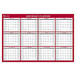 Blue Sky Jumbo Yearly Erasable Laminated
