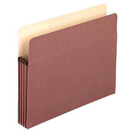 """Pendaflex® Redrope 100% Recycled Expandable File Pockets, 3 1/2"""" Expansion, Letter Size, Brown, Pack Of 25"""