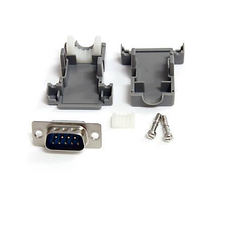 StarTech.com Solder D-SUB - Assembled - Plastic Backshell Serial / parallel connector - DB-9 (M) - DB-9