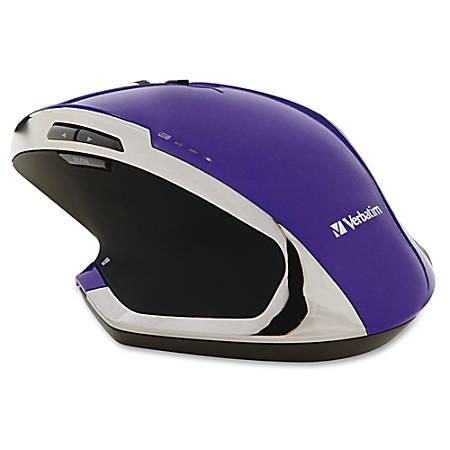 Verbatim Wireless Desktop 8-Button Deluxe Blue LED Mouse - Purple