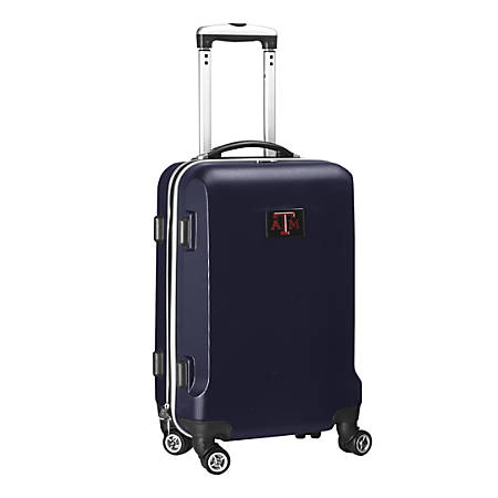 "Denco Sports Luggage NCAA ABS Plastic Rolling Domestic Carry-On Spinner, 20"" x 13 1/2"" x 9"", Texas A&M Aggies, Navy"