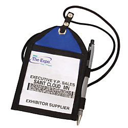 "Trade Show Badge Pouch, 6"" x 4"""