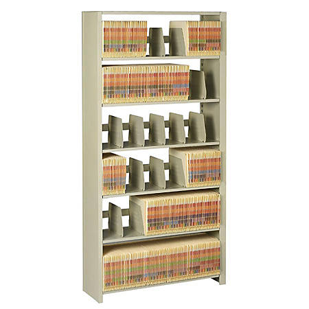 "Tennsco Snap-Together Open Shelving Unit, 88""H x 48""W x 12""D, Sand"
