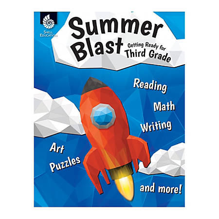 Shell Education Summer Blast Activity Book, Getting Ready For Second Grade