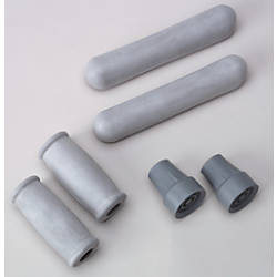 Medline Crutch Replacement Tips Gray Case