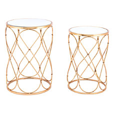 Zuo Modern Twist End Tables Round