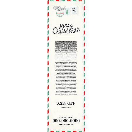 Vertical Banner Template, Pale Yellow