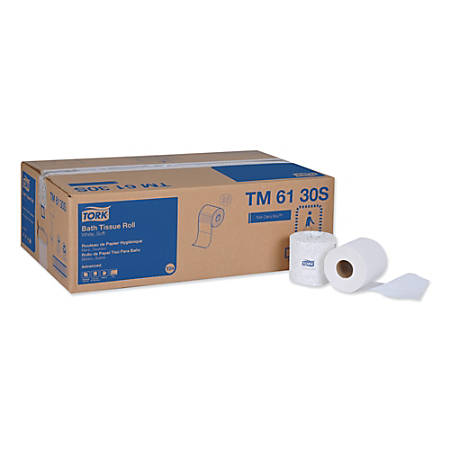 Tork Advanced 2-Ply Bathroom Tissue, 2-Ply, White, 500 Sheets Per Roll, Case Of 48 Rolls