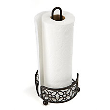 Mind Reader Freestanding Metal Paper Towel