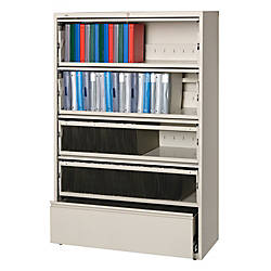 Lorell Fortress Series 42W 5 Drawer