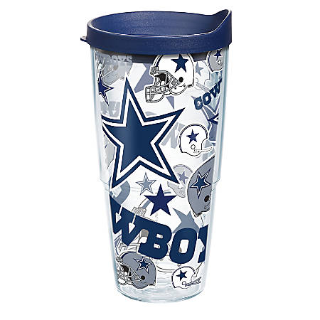 Tervis NFL All-Over Tumbler With Lid, 24 Oz, Dallas Cowboys