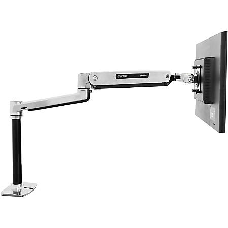 Ergotron Sit-Stand Desk Mounting Arm For Flat-Panel Displays, Polished Aluminum