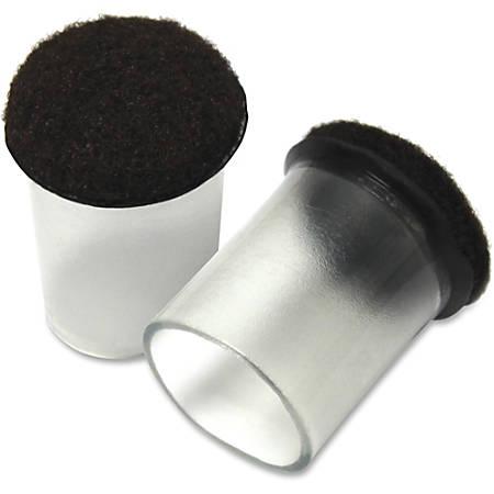 Lorell® Clear Sleeve Hard Floor Protectors, Set Of 8