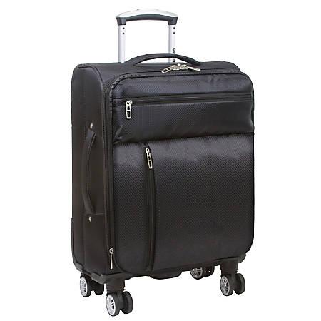 """DeJuno Spinner Suitcase, 10""""H x 15""""W x 20""""D, Black"""
